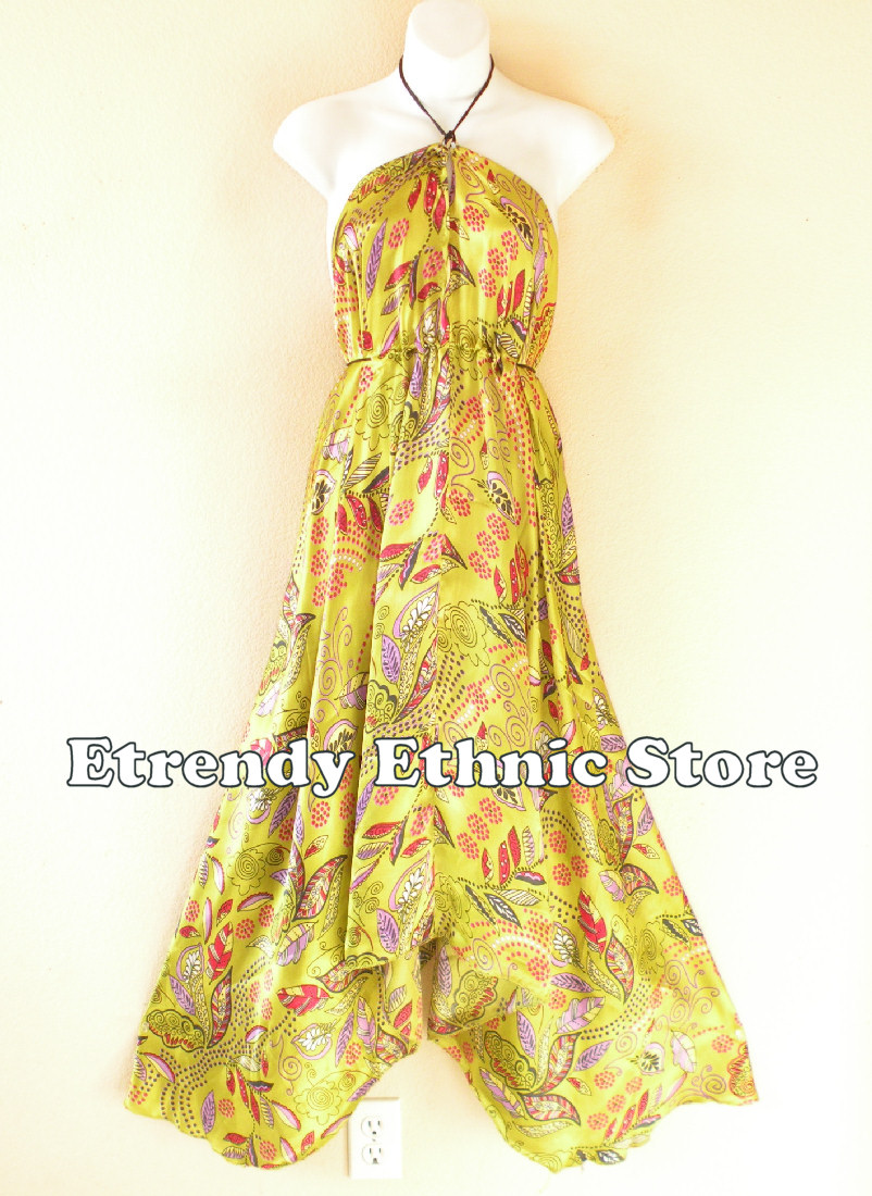 2SD116 - Multi Wear Silk Scarf Dress